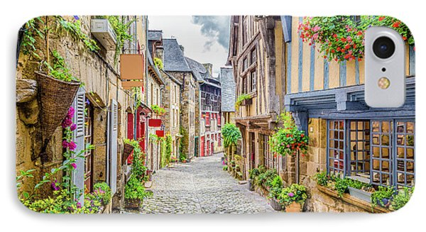 Streets Of Dinan IPhone Case by JR Photography