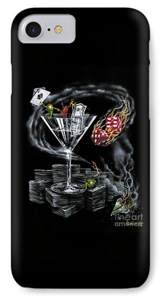 Martini iPhone 7 Case - Strike It Rich by Michael Godard