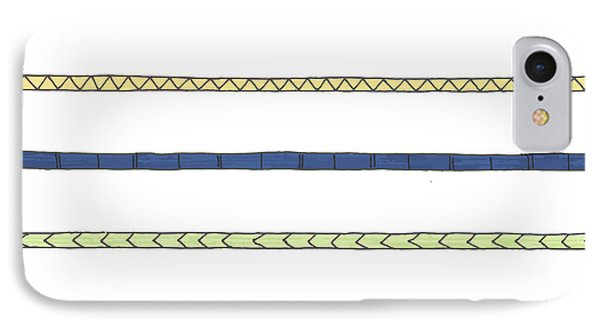 Striping IPhone Case by Jill Lenzmeier