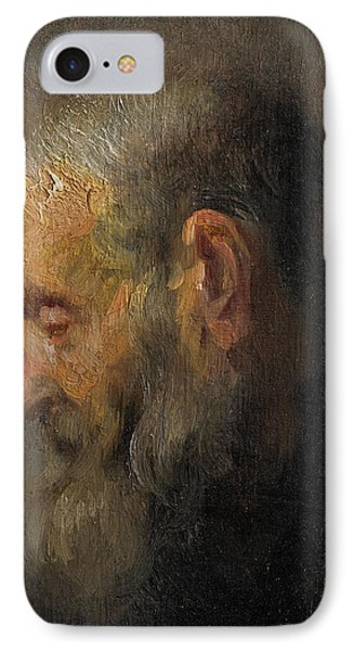 Study Of An Old Man In Profile IPhone Case by Rembrandt