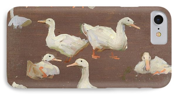 Study Of Ducks IPhone Case