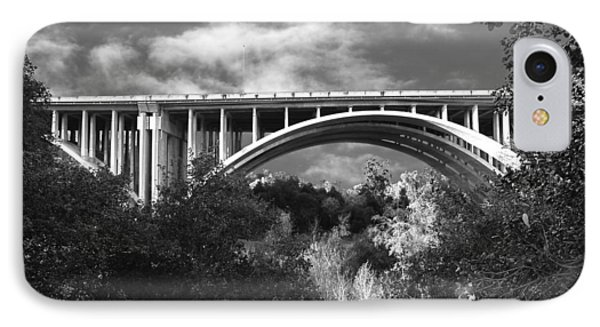Suicide Bridge Bw IPhone Case by Robert Hebert