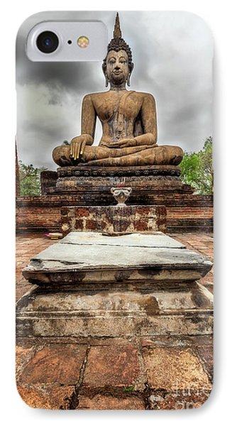 Sukhothai Historical Park IPhone Case by Adrian Evans