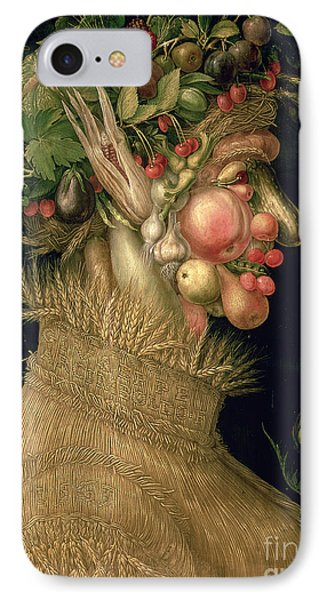 Raspberry iPhone 7 Case - Summer by Giuseppe Arcimboldo