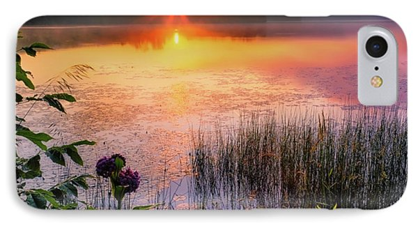 IPhone 7 Case featuring the photograph Summer Sunrise Square by Bill Wakeley