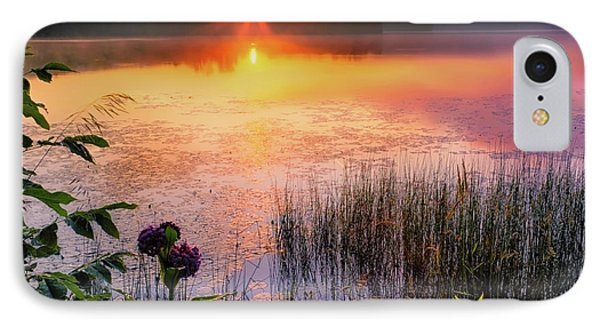 IPhone Case featuring the photograph Summer Sunrise Square by Bill Wakeley