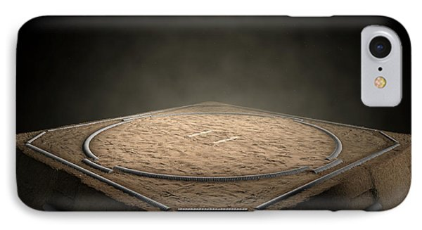 Sumo Ring Empty IPhone Case by Allan Swart