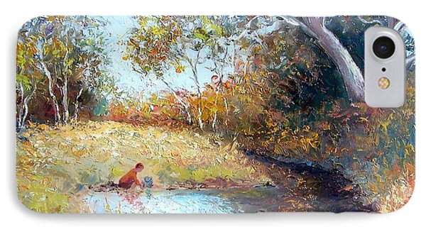 Sunday By The Creek IPhone Case by Jan Matson
