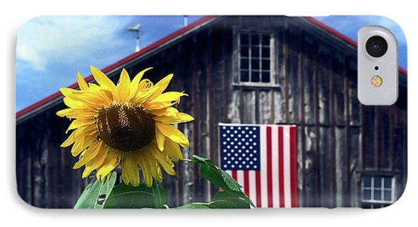 Sunflower By Barn IPhone Case