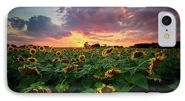 IPhone Case featuring the photograph Sunflower Field  by Emmanuel Panagiotakis