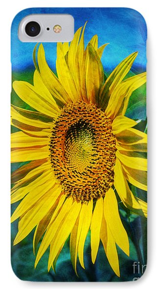 IPhone Case featuring the digital art Sunflower by Ian Mitchell