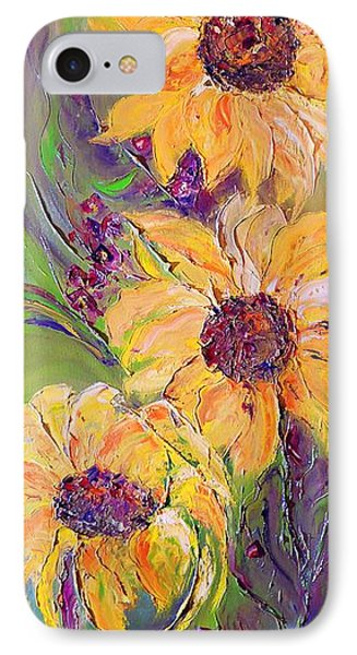 IPhone Case featuring the painting Sunflowers by AmaS Art