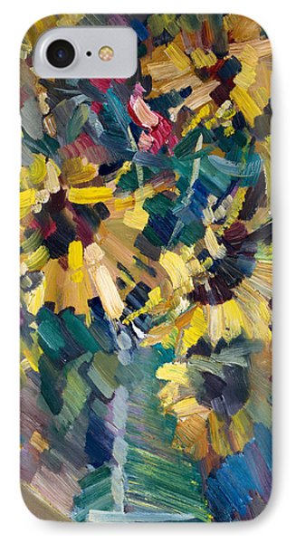 Flowers iPhone 7 Case - Sunflowers by Nikolay Malafeev