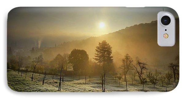Sunrise From Petrin Yard In Prague, Czech Republic IPhone Case