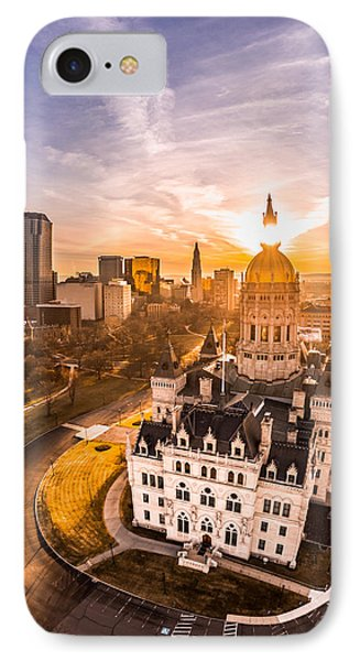 IPhone Case featuring the photograph Sunrise In Hartford, Connecticut by Petr Hejl