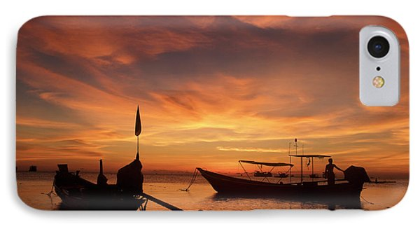 Sunrise On Koh Tao Island In Thailand IPhone Case by Tamara Sushko