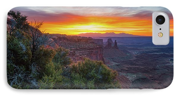 IPhone Case featuring the photograph Sunrise Over Canyonlands by Darren White