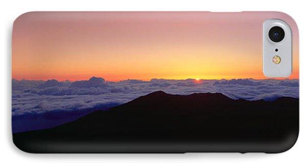 Sunrise Over Haleakala Volcano Summit IPhone Case by Panoramic Images