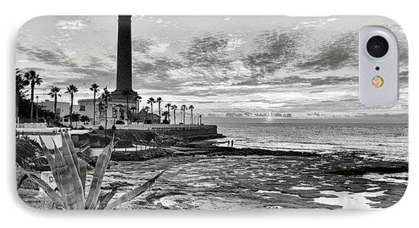 IPhone Case featuring the photograph Sunset At Chipiona Lighthouse Cadiz Spain by Pablo Avanzini