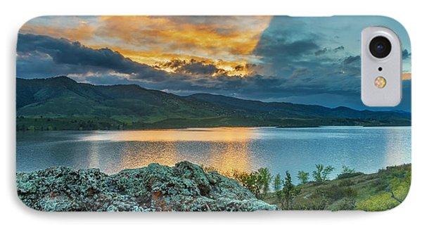 Sunset At Horsetooth Reservoir IPhone Case