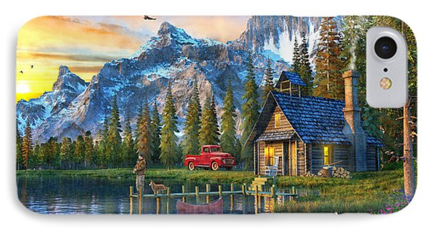 Sunset At Log Cabin IPhone Case