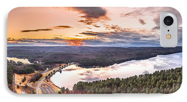 IPhone Case featuring the photograph Sunset At Saville Dam - Barkhamsted Reservoir Connecticut by Petr Hejl