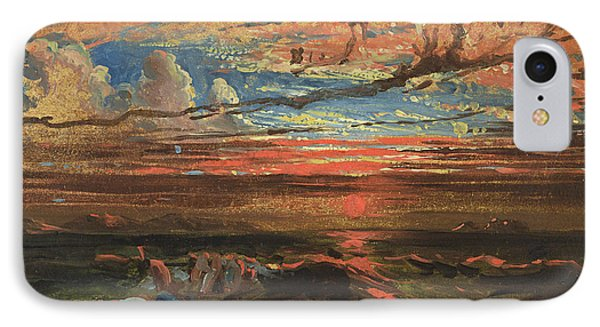Sunset At Sea After A Storm IPhone Case by Francis Danby