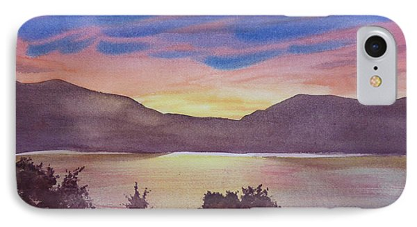 IPhone Case featuring the painting Sunset At Woodhead Campground by Joel Deutsch