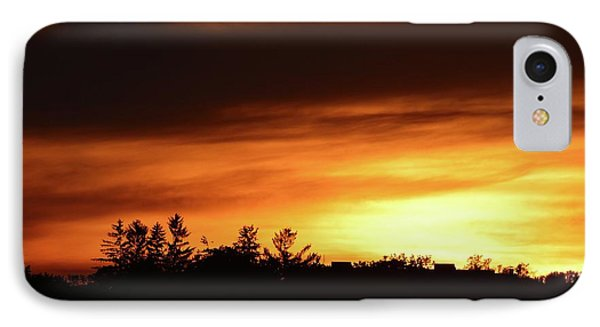 Sunset Behind The Clouds  IPhone Case