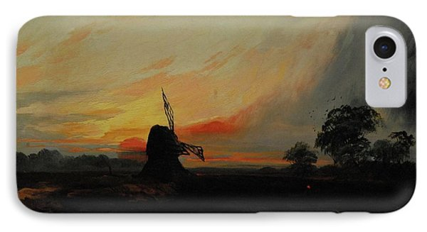 Sunset By The Windmill IPhone Case