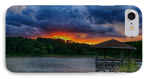 IPhone Case featuring the photograph Sunset Huntington Beach State Park by Bill Barber