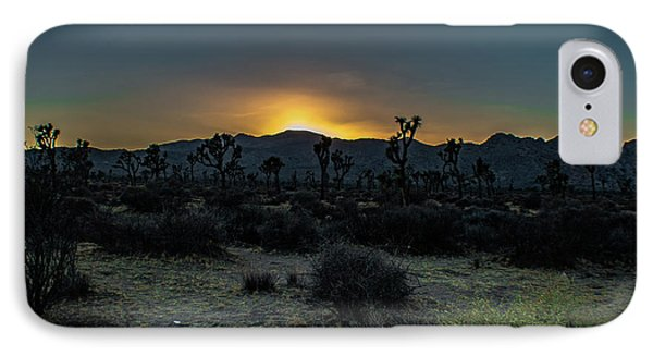 sunset Joshua Tree National Park IPhone Case by Timothy Kleszczewski