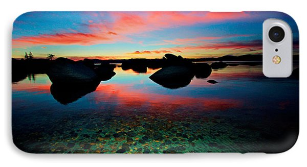 Sunset With A Whale IPhone Case by Sean Sarsfield
