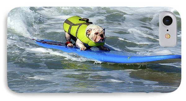 IPhone Case featuring the photograph Surfing Dog by Thanh Thuy Nguyen