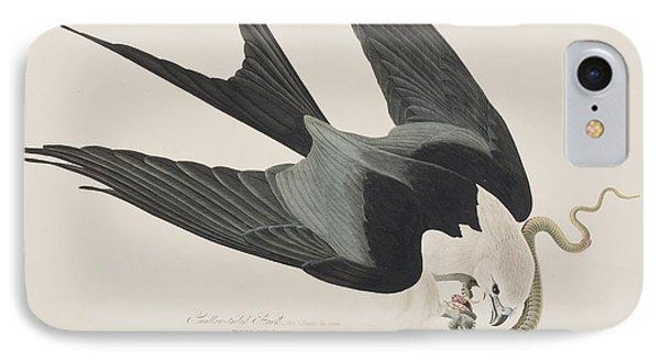 Swallow-tailed Hawk IPhone Case by John James Audubon