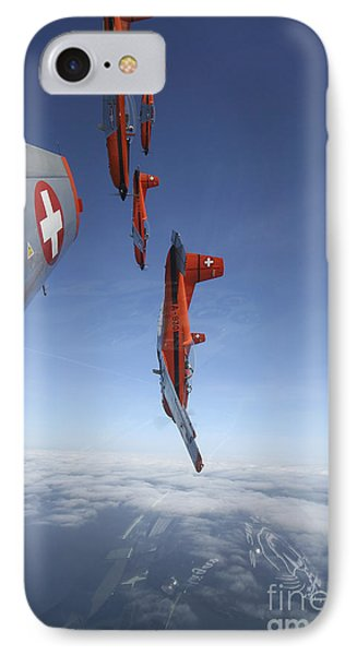 Swiss Air Force Display Team, Pc-7 Phone Case by Daniel Karlsson
