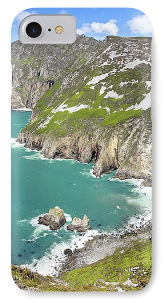 Tall Sea Cliffs Of Slieve League Donegal Ireland Phone Case by Pierre Leclerc Photography
