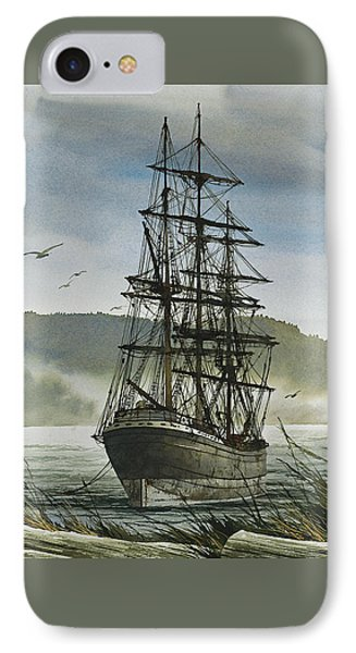 IPhone Case featuring the painting Tall Ship Cove by James Williamson