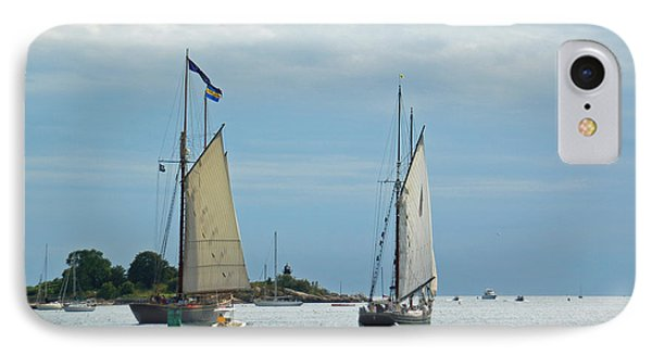 Tall Ships Sailing I Phone Case by Suzanne Gaff