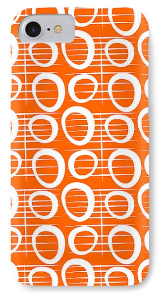 Tangerine Loop IPhone 7 Case by Linda Woods