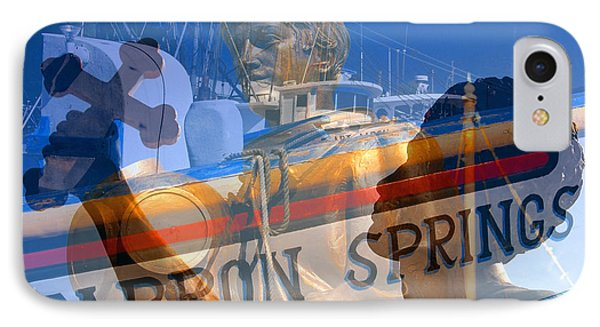 IPhone Case featuring the photograph Tarpon Springs Florida Mash Up by David Lee Thompson