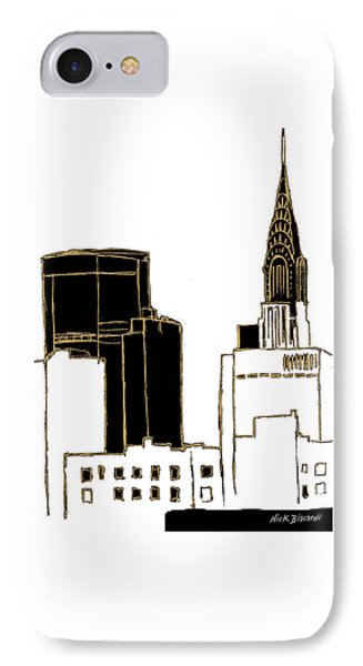 Tenement Empire State Building IPhone Case by Nicholas Biscardi