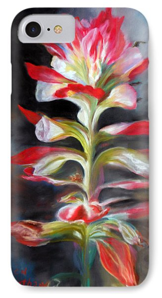 IPhone Case featuring the pastel Texas Indian Paintbrush by Karen Kennedy Chatham
