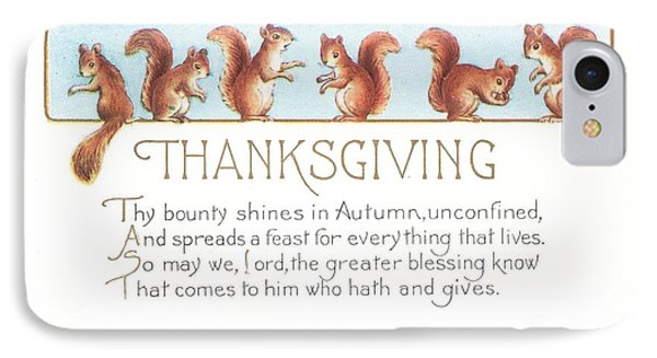 Thanksgiving Card IPhone Case by American School