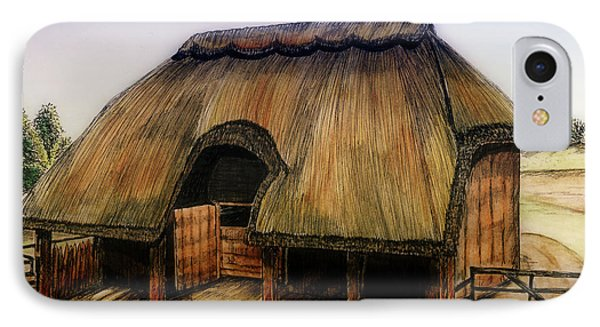 Thatched Barn Of Old IPhone Case by Shari Nees