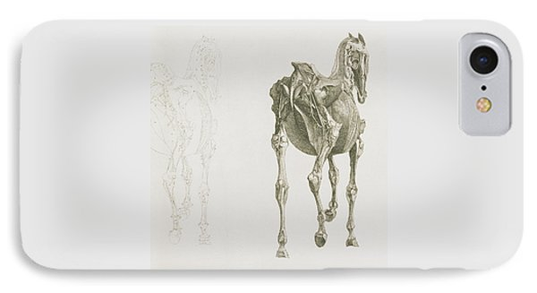 The Anatomy Of The Horse IPhone Case by George Stubbs