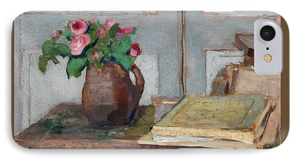 The Artist's Paint Box And Moss Roses IPhone Case