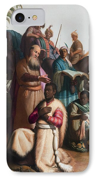 The Baptism Of The Eunuch IPhone Case by Rembrandt