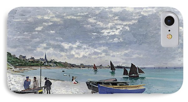 The Beach At Sainte Adresse IPhone Case by Claude Monet
