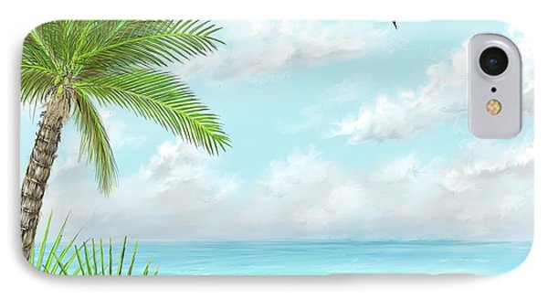 IPhone Case featuring the digital art The Beach by Darren Cannell
